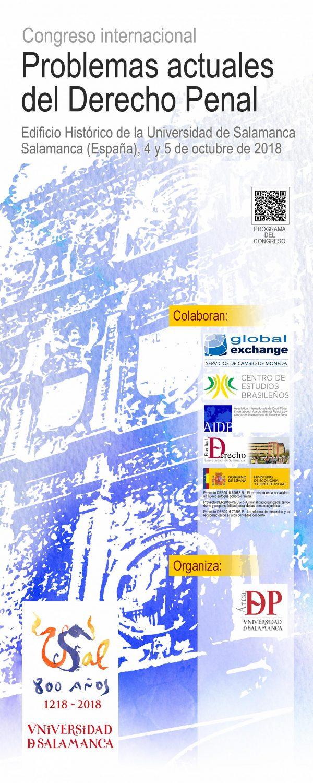 Cartel CONGRESO INTERNACIONAL SOBRE PROBLEMAS ACTUALES DEL DERECHO PENAL