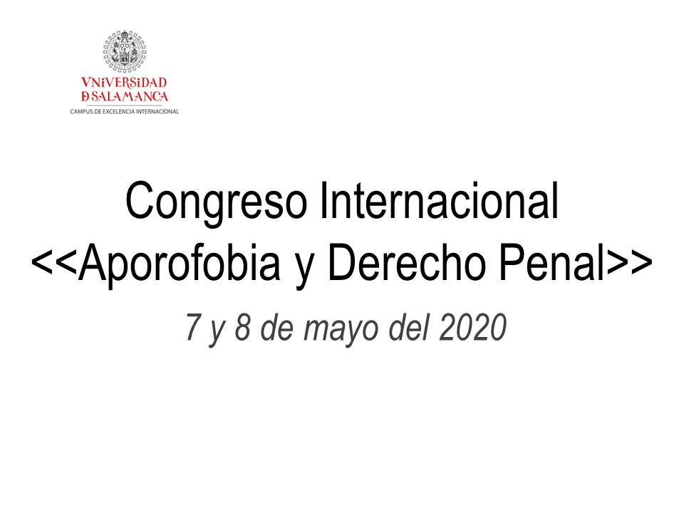 Congreso Internacional , 7 y 8 de mayo del 2020