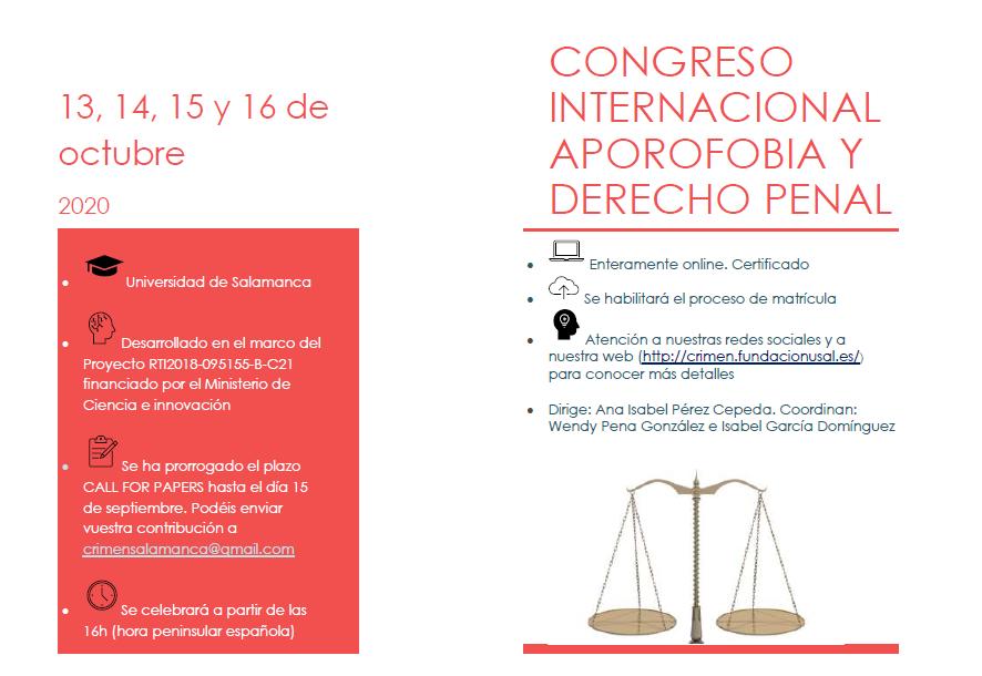 Cartel del Congreso Aporofobia y Derecho penal