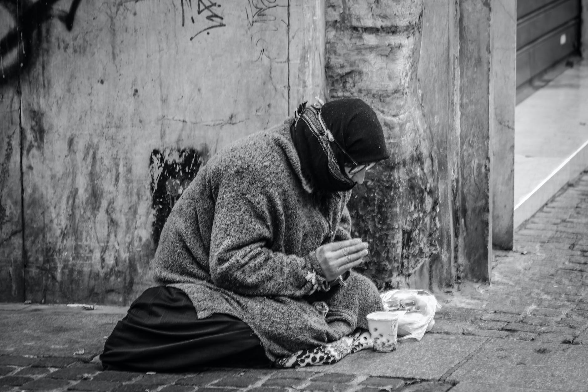photo of a homeless person